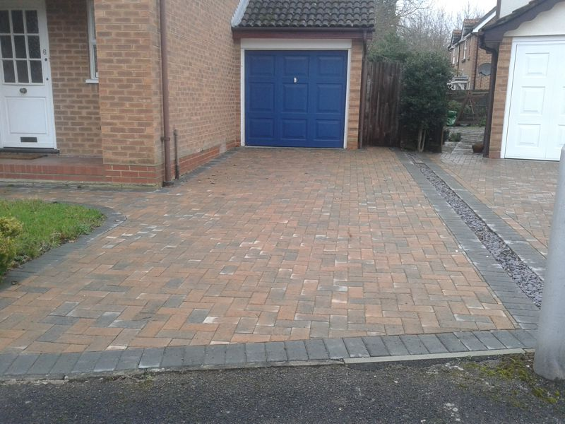 Completed driveway in Bracknell