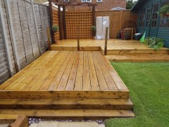 Side view of decking
