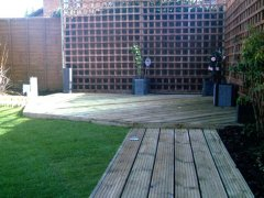 Decking project in Bracknell