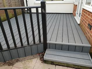 Replaced garden decking