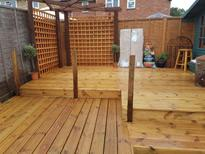 Decking installation in Ascot