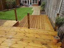 Completed decking in Maidenhead