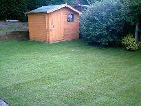 Lawn and shed installation