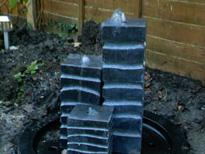 Garden water feature installation