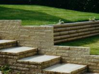 walling and edging installation